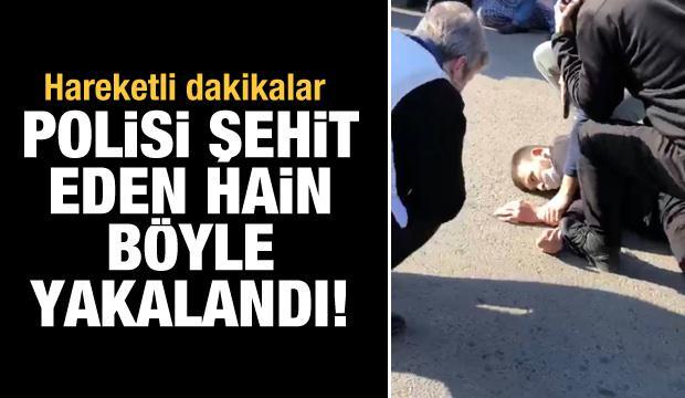 Kahramanmaraş'ta polisi şehit eden şahsın yakalanma anı kamerada