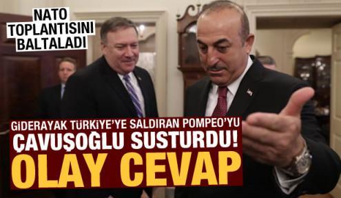 NATO toplantısında Türkiye'yi suçlayan Pompeo'yu Çavuşoğlu susturdu