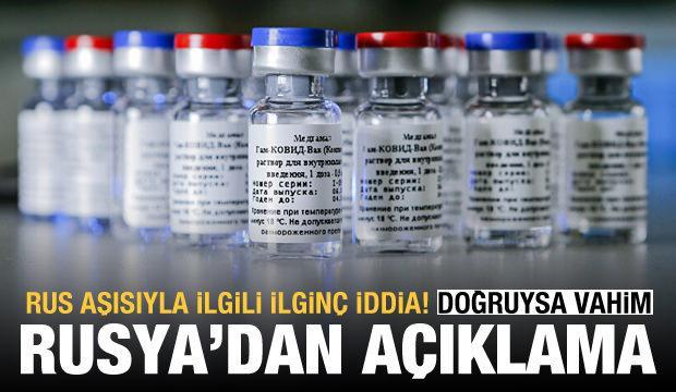Rus aşısını olan 20 kişi koronavirüse yakalandı iddiası! Rusya'dan açıklama