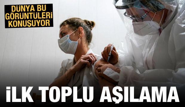 Rusya'da koronavirüse karşı toplu aşılama başladı
