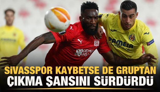 Sivasspor kaybetse de şansını sürdürdü