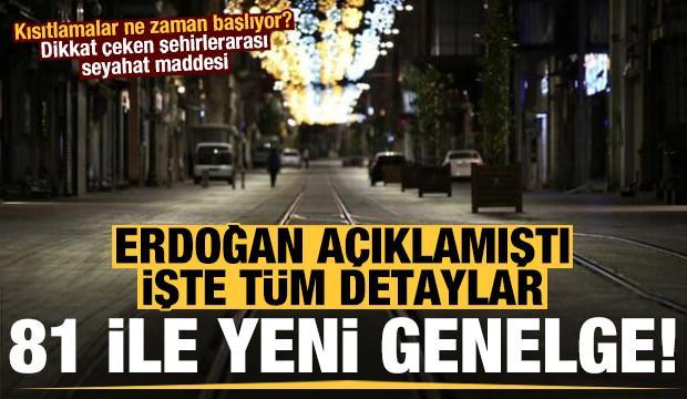 Erdoğan açıklamıştı işte detaylar! Dikkat çeken şehirlerarası seyahat maddesi...