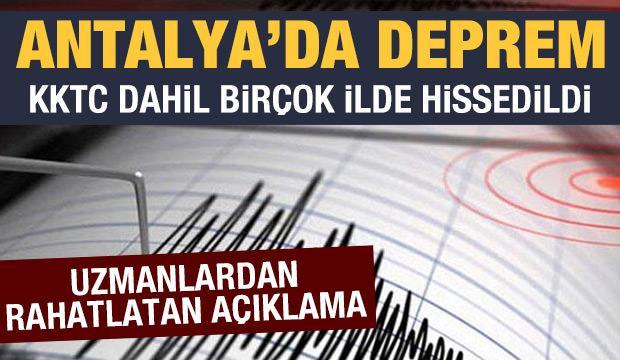 Son dakika haberi: Antalya açıklarında deprem! Birçok ilde hissedildi