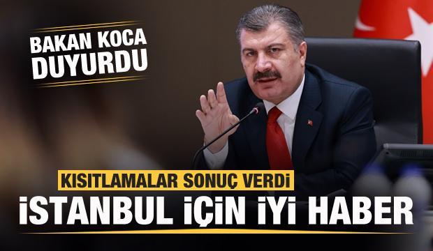 Son dakika: Kısıtlamalar sonuç verdi! Bakan Koca'dan İstanbul için sevindiren haber!