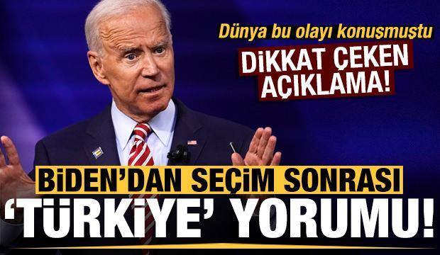Seçim sonrası Joe Biden'dan dikkat çeken 'Türkiye' yorumu!