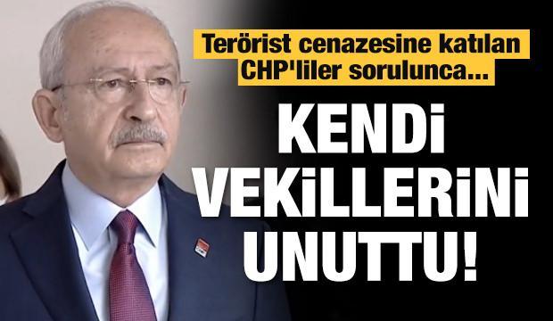 Terörist cenazesine katılan CHP'liler sorulunca... Kendi vekillerini unuttu!