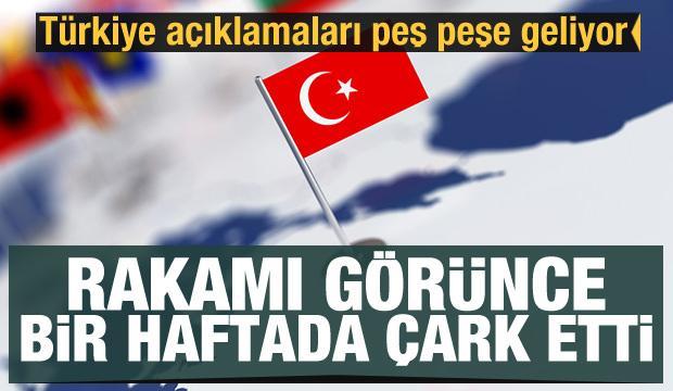 Türkiye açıklamaları peş peşe geliyor! Dünya devi rakamı görünce bir haftada çark etti