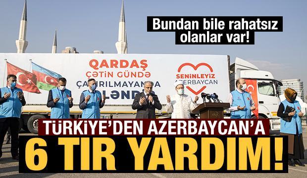 Türkiye'den Azerbaycan'a 6 tır insani yardım