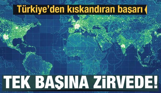 Türkiye'den kıskandıran başarı! Tek başına zirvede