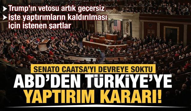 Son Dakika: ABD'den Türkiye'ye yaptırım kararı! - DÜNYA Haberleri