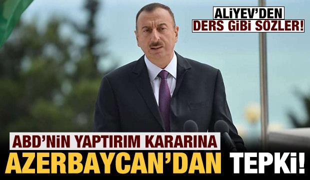 ABD'nin Türkiye'ye yaptırım kararına Azerbaycan'dan tepki!