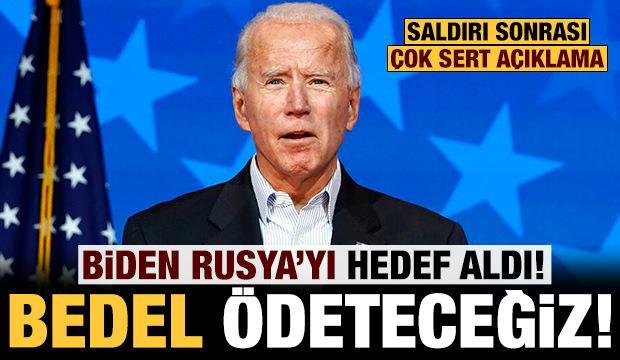 Biden'dan Rusya'ya çok sert gözdağı: Bedel ödeteceğiz!
