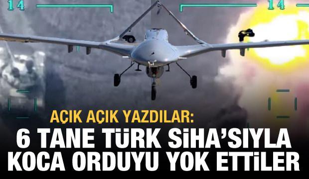 Le Monde: 6 tane Türk SİHA'sıyla koskoca orduyu yok ettiler