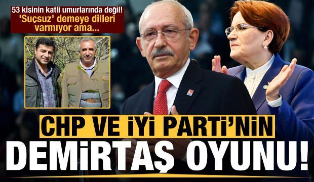 CHP ve İYİ Parti'nin Demirtaş oyunu! 'Suçsuz' demeye dilleri varmıyor ama..