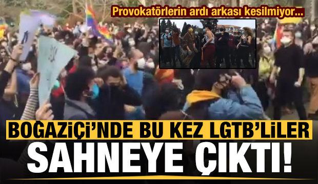 Boğaziçi Üniversitesi'nde LGBT bayraklı protesto!