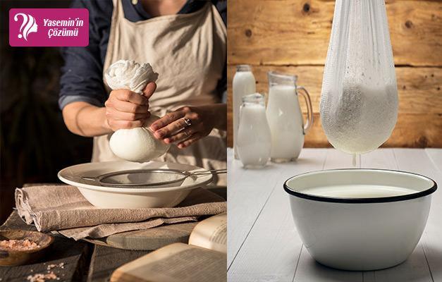 Peynir yaparken tülbent nasıl kullanılır?