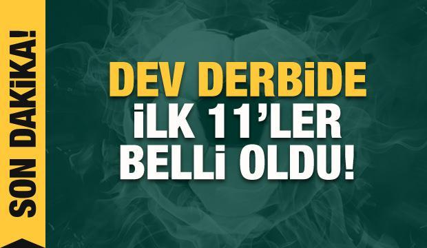 Beşiktaş - Galatasaray! İlk 11'ler belli oldu