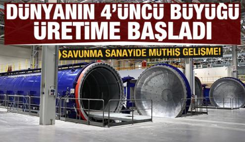 Dünyanın 4'üncü büyüğü Ankara'da üretime başladı