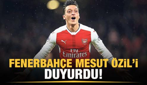 Fenerbahçe Mesut Özil'i resmen duyurdu!
