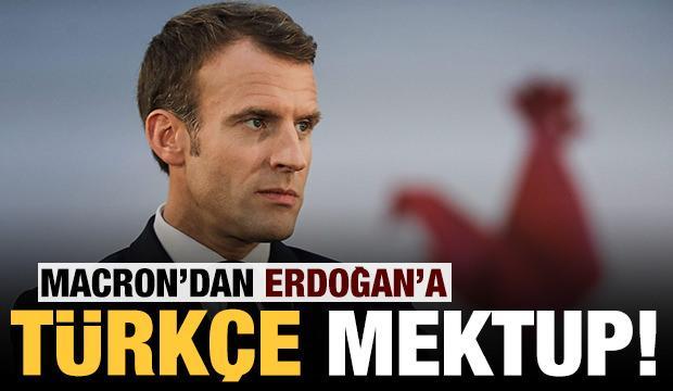 Macron'dan Erdoğan'a Türkçe mektup!