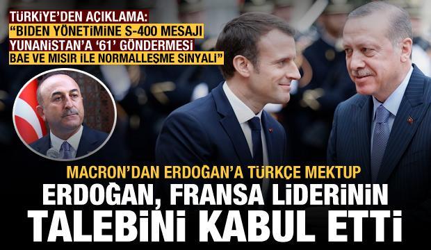 Macron'dan Erdoğan'a Türkçe mektup! Erdoğan, Fransa liderinin talebini kabul etti