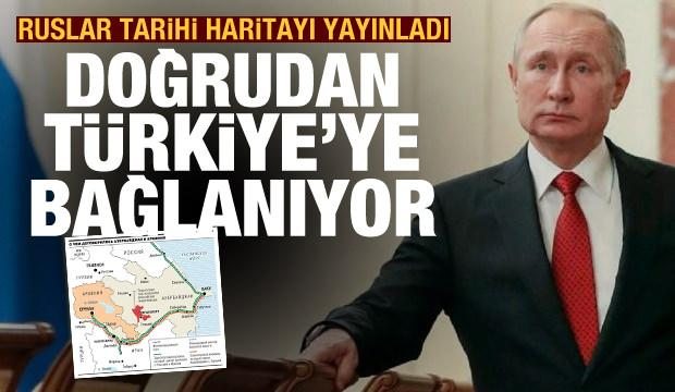 Rusya Dağlık Karabağ haritasını yayınladı! Direkt Azerbaycan'dan Türkiye'ye bağlanacak