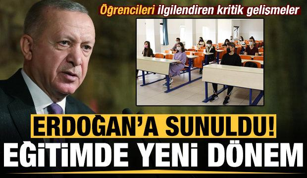 Son dakika: Eğitimde yeni dönem! Erdoğan'a sunuldu: Öğrencileri ilgilendiren kritik gelişmeler
