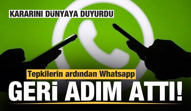 Tepkilerin ardından Whatsapp'tan son dakika kararı! Dünyaya duyurdular...