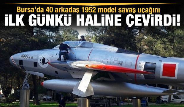1952 model savaş uçağını ilk günkü haline getirdiler
