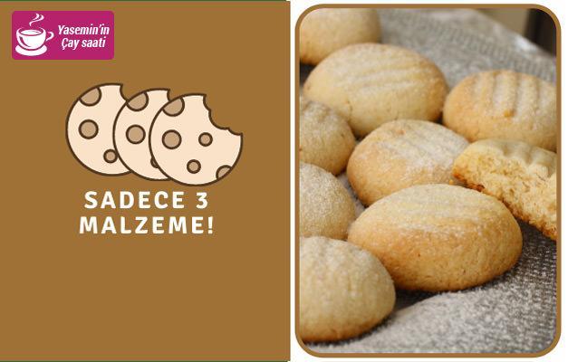 Sadece 3 malzemeden oluşan enfes kurabiye!