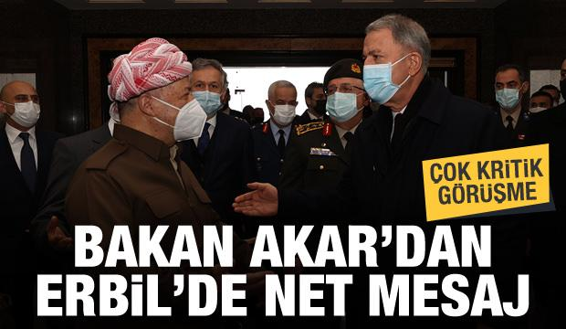 Bakan Akar'dan Erbil'de net mesaj! Barzani ile kritik görüşme