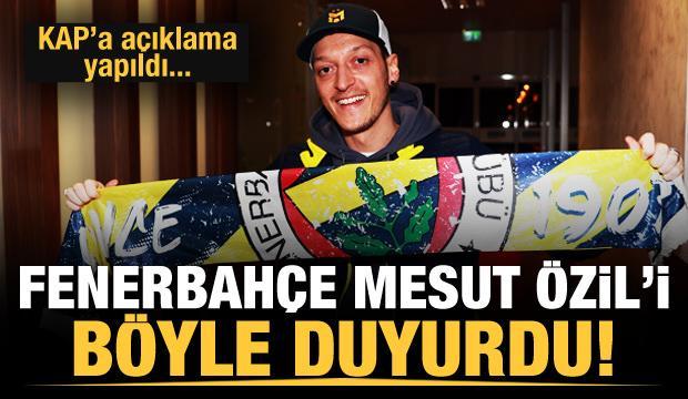 Fenerbahçe Mesut Özil'i KAP'a bildirdi!