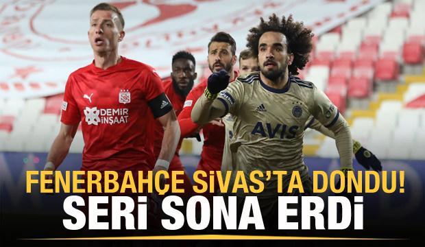 Fenerbahçe Sivas'ta dondu kaldı!