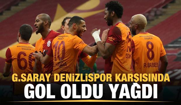 Galatasaray, Denizlispor karşısında gol oldu yağdı!