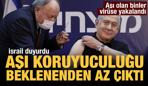 İsrail'den aşı açıklaması: Beklenenden az koruyor