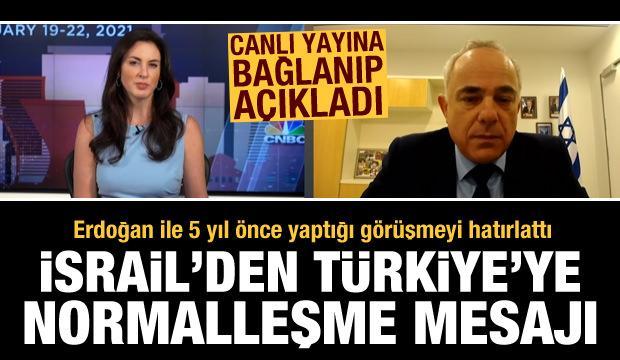 İsrail'den Türkiye'ye sürpriz normalleşme teklifi! Erdoğan ile görüşmesini anlattı
