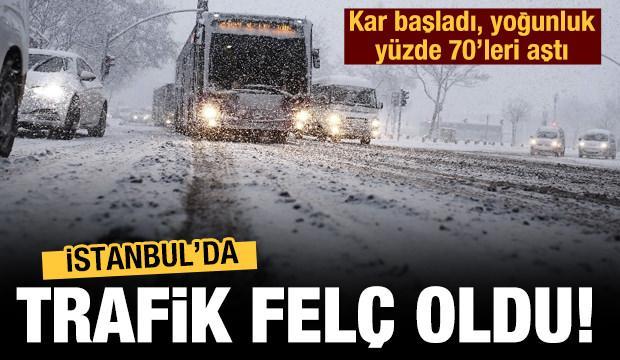 İstanbul'da trafik felç! Yoğunluk yüzde 70'leri aştı