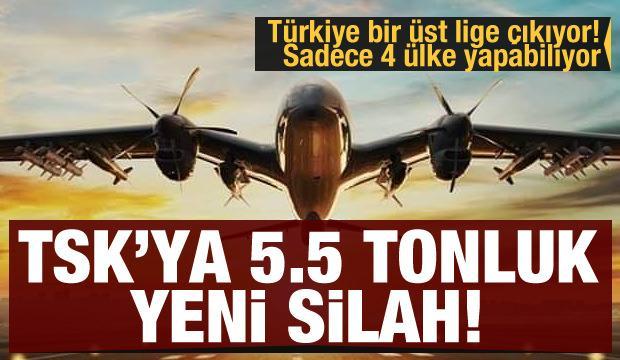 İşte TSK'nın 5,5 tonluk yeni silahı... Türkiye bir üst lige çıkıyor! Sadece 4 ülke yapabiliyor