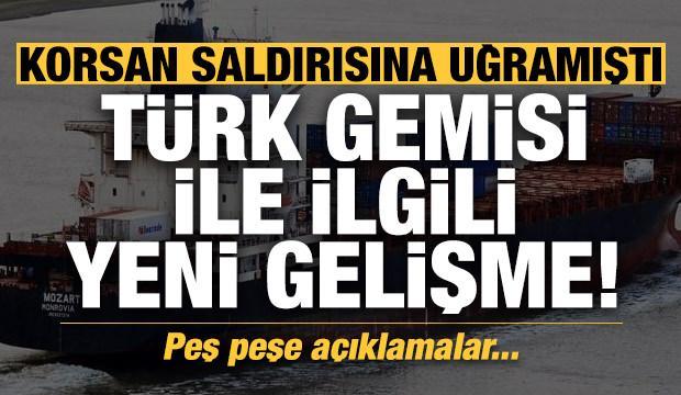 Kaçırılan Türk gemisi ile ilgili son dakika gelişmesi! Bakan duyurdu...