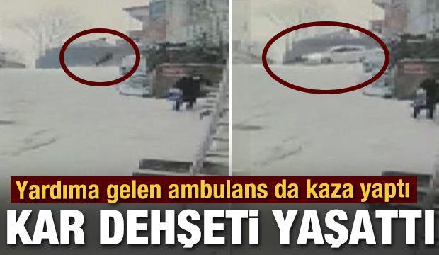 Kağıthane'de kayıp düşen kişiye otomobil çarptı! Feci kaza kamerada