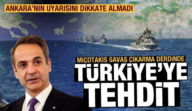 Miçotakis'ten Ege'de Türkiye'ye 12 mil tehdidi! TBMM: Bu savaş sebebidir