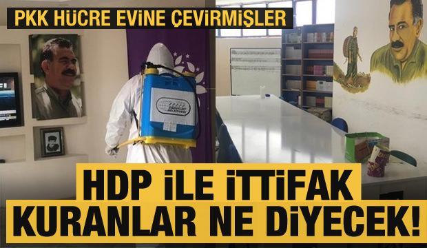 PKK'nın hücre evine çevirmişler! HDP ile ittifak kuranlar buna ne diyecek!