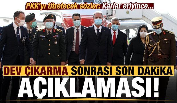 PKK'yı titretecek sözler! Dev çıkarma ile ilgili son dakika açıklaması: Karlar eriyince...