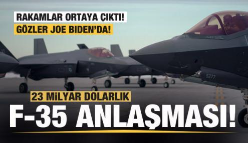 Rakamlar açıklandı! 23 milyar dolarlık F-35 anlaşması! Gözler Biden'da!