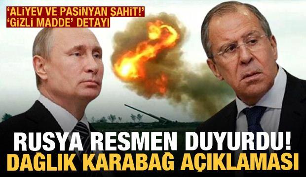 Rusya'dan son dakika Dağlık Karabağ açıklaması! Gizli madde detayı