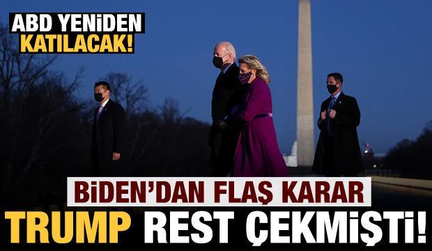 Son dakika: Biden'dan flaş karar! Trump rest çekmişti yeniden katılacak!