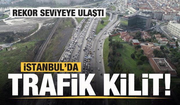 Son dakika: İstanbul'da trafik durdu! Yüzde 80'e çıktı