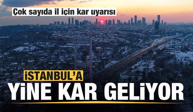 Son dakika: Meteoroloji duyurdu: İstanbul'a yine kar geliyor