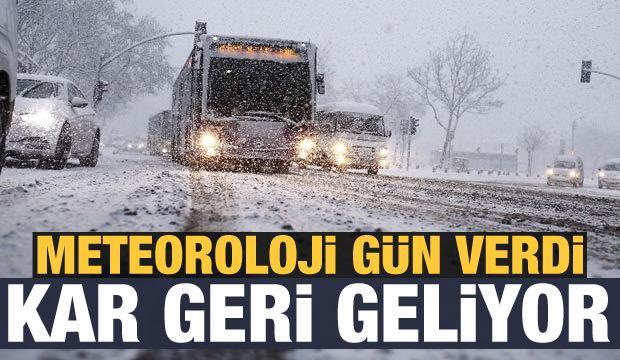 Son dakika! MGM harita paylaştı: Kar yağışı geri dönüyor! İşte il il haftalık hava durumu