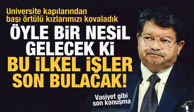 Turgut Özal'ın 1993 yılındaki vasiyet gibi konuşması (2. Kısım)